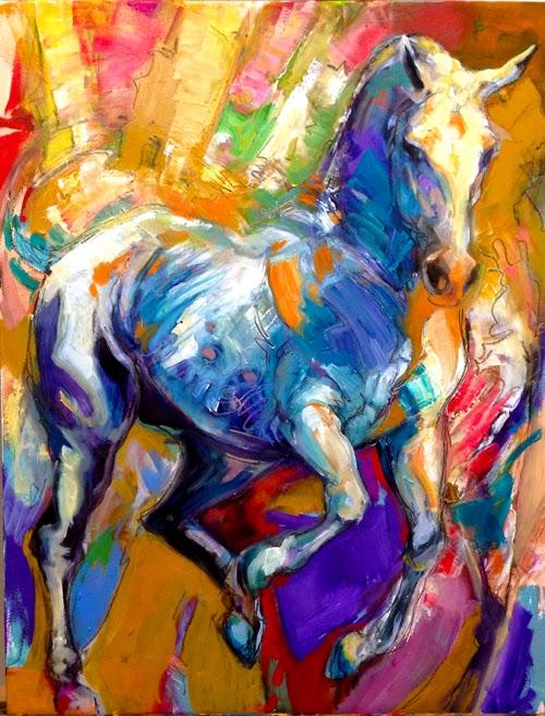 EQUINE artwork horse fine art oil painting Lipizzan Lipizzaner dressage Joanna Zeller Quentin Moose Pants Studio