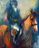 Equestrian artwork oil paintings by moose pants studio for Atlanta oil painting artists